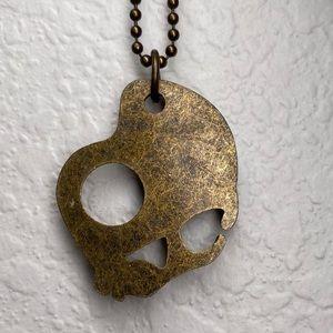 Bronze Skullcandy 💀 🍭 Necklace